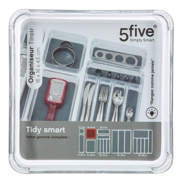 Organizer per Cassetti Plastica 16X16X4,5 cm