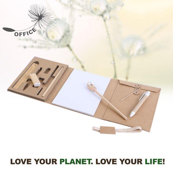 Set Scrittura Eco con Blocco Life Green