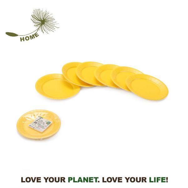 Life Green Piatti CARTA 20PZ gialli