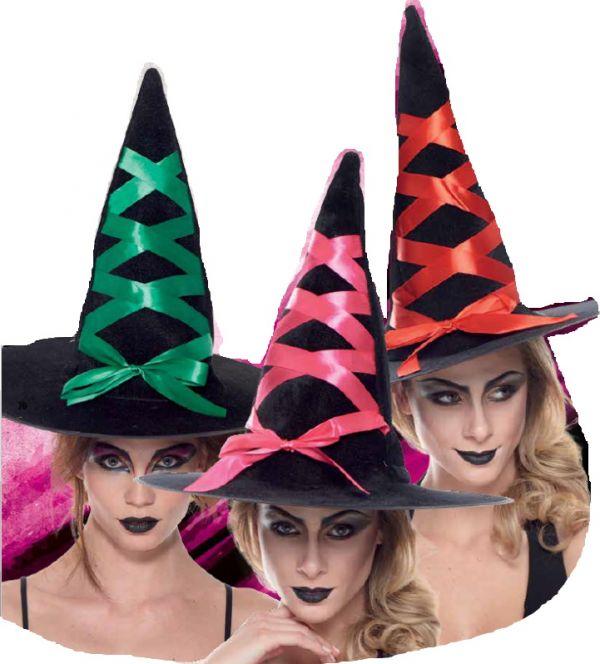 Cappello da Strega con Stringhe Accessorio Halloween