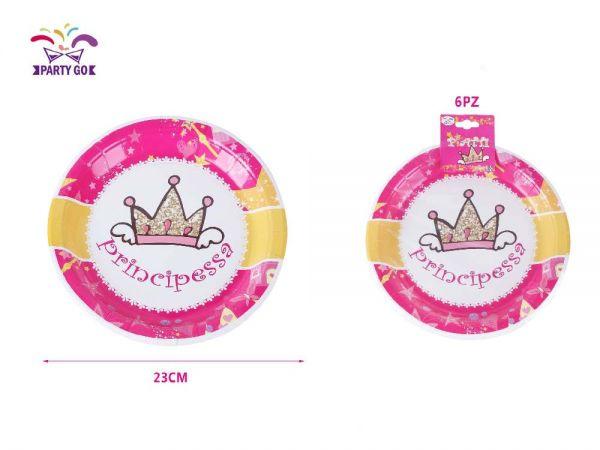Piatti Party Principessa 8 Pezzi d. 23 cm