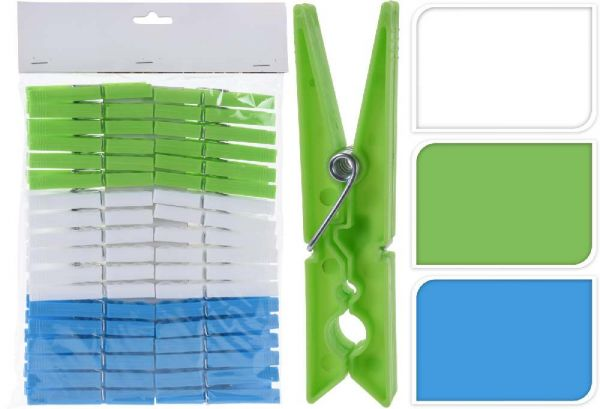 Mollette per Bucato in Plastica 36 Pezzi