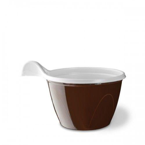 25 BICCHIERI A TAZZINA CAFFE' MONOUSO PET  ARISTEA 80CC